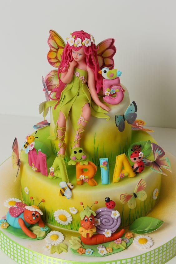 bolo fadas decorado