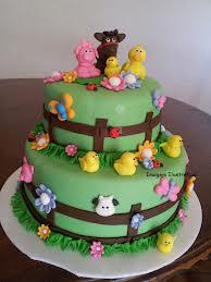 bolo fazenda animais
