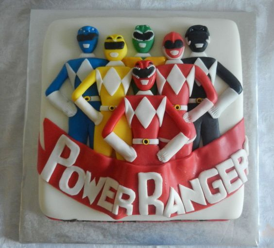 bolo festa Power Rangers criativo