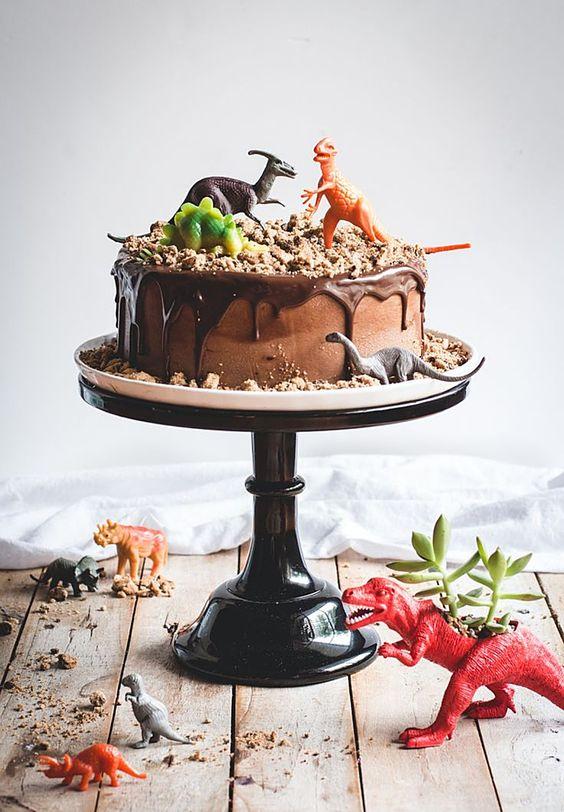 bolo festa dinossauro 1