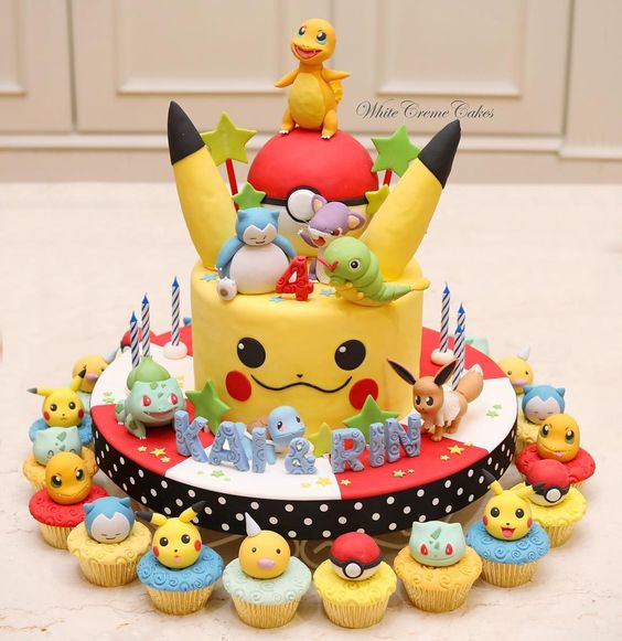 bolo festa pokemon 3