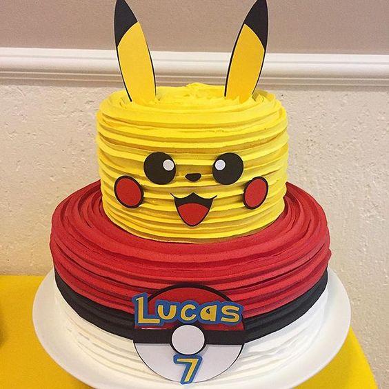 bolo festa pokemon 4