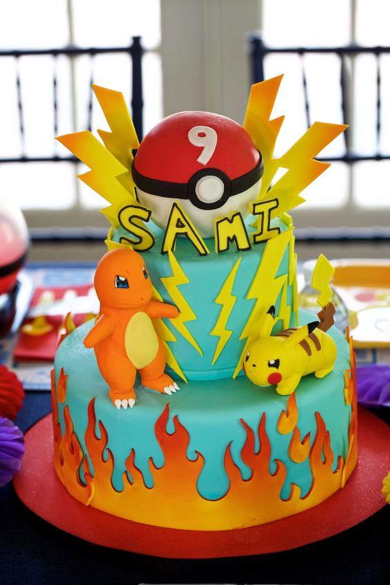 bolo festa pokemon 6