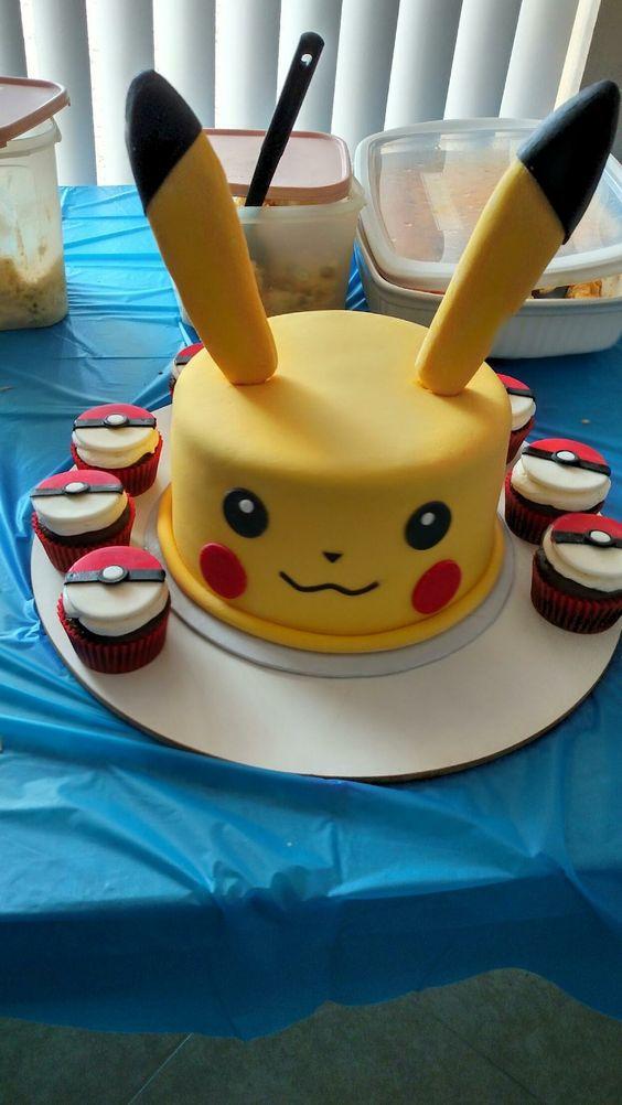 bolo festa pokemon