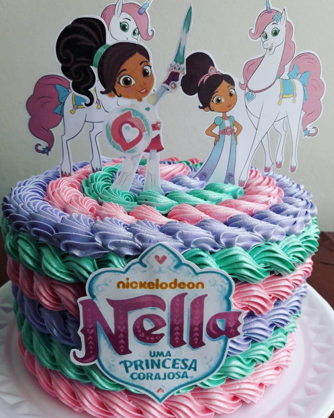 bolo festa princesa nella toppers