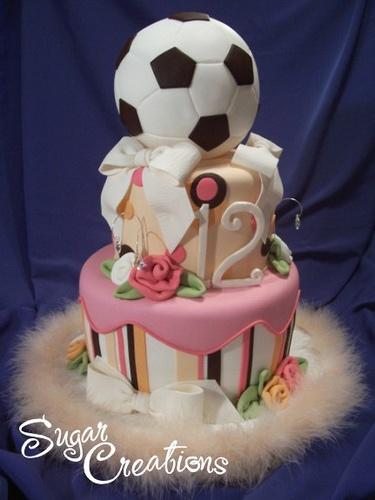 bolo futebol menina