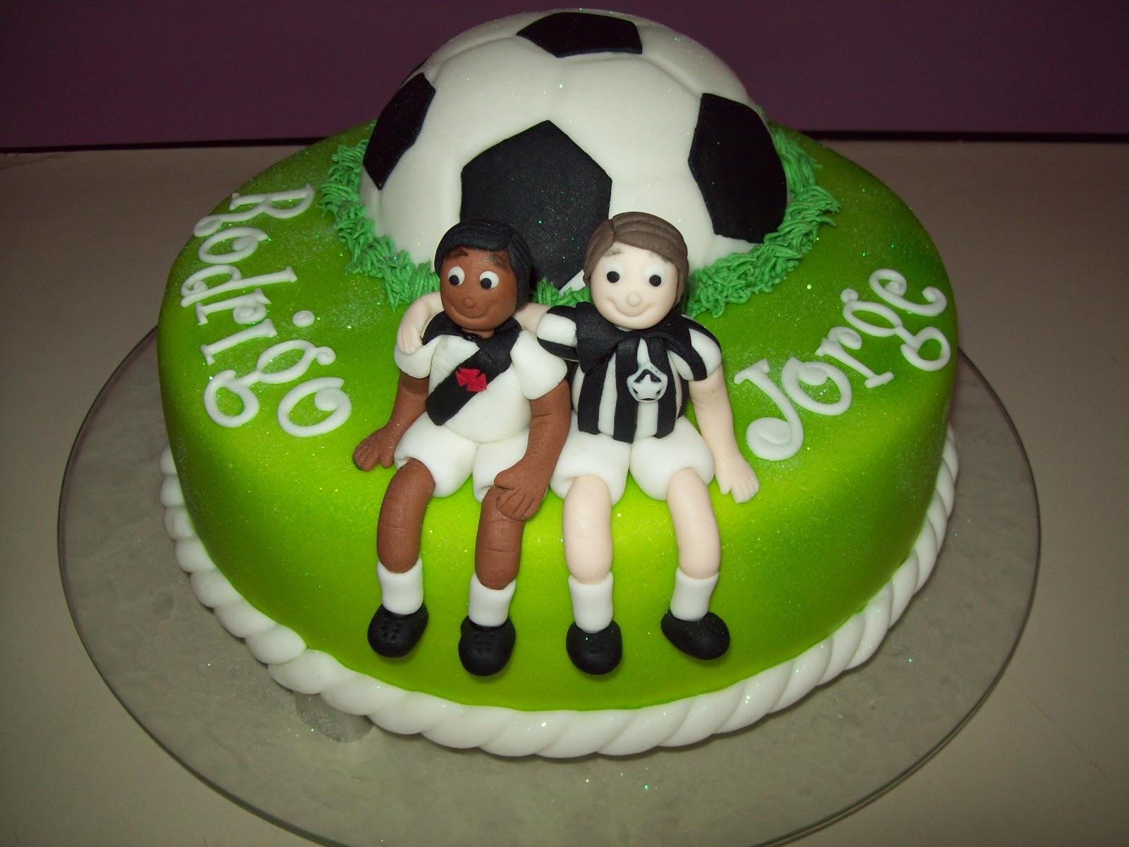 bolo futebol redondo