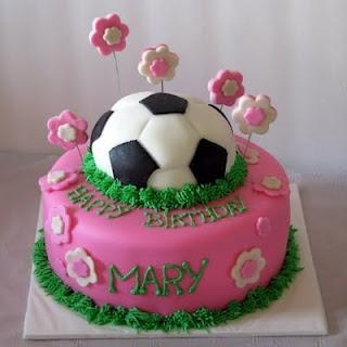bolo futebol time menina