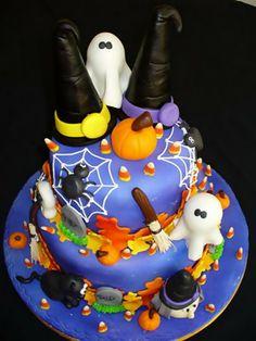 bolo halloween bruxa