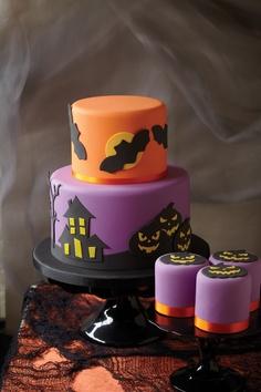 bolo halloween decorado