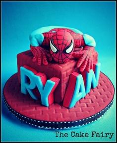 bolo homem aranha decorado