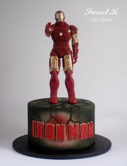 bolo infantil homem de ferro