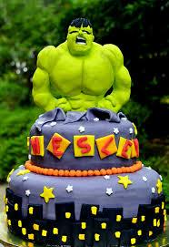 bolo infantil hulk
