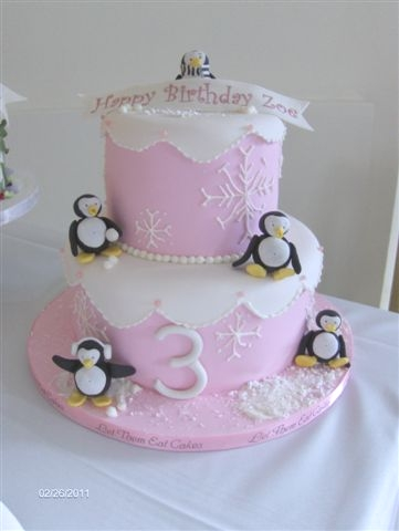bolo infantil pinguins