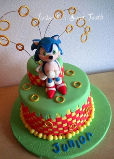 bolo infantil sonic