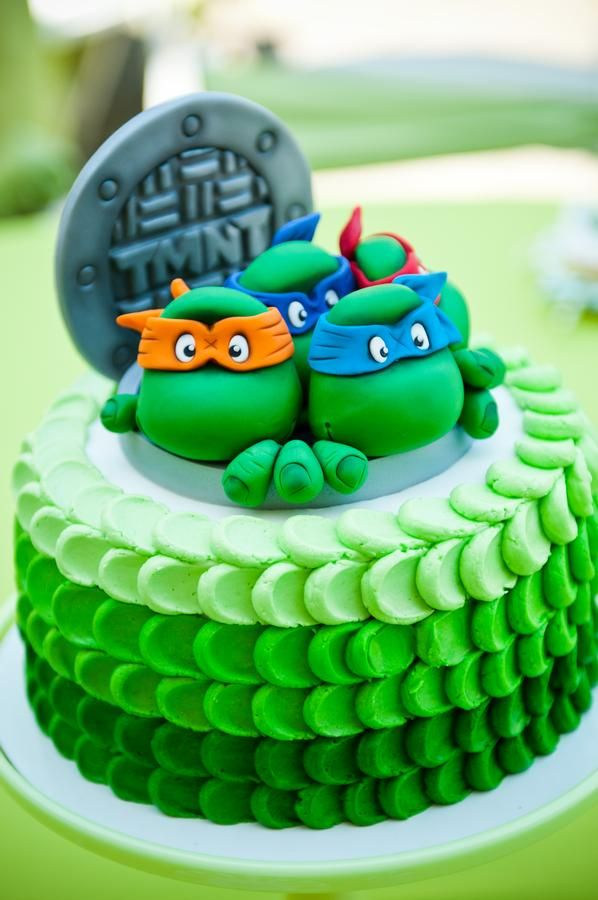 bolo infantil tartarugas ninja