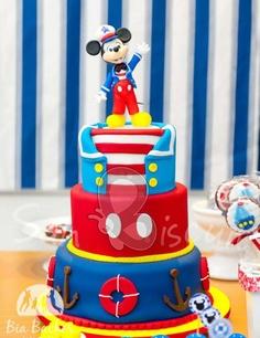bolo mickey marinheiro