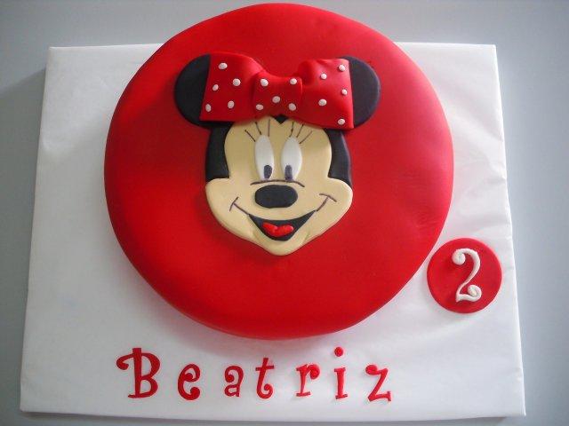 bolo minnie vermelho redondo