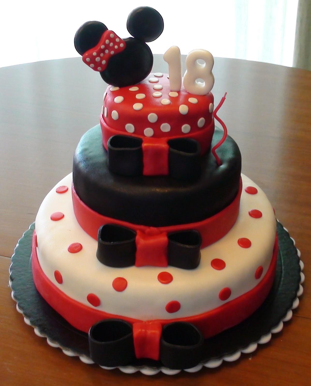 bolo minnie vermelho