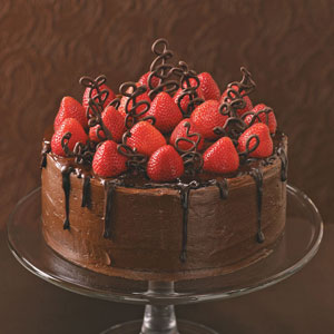 bolo morango e chocolate