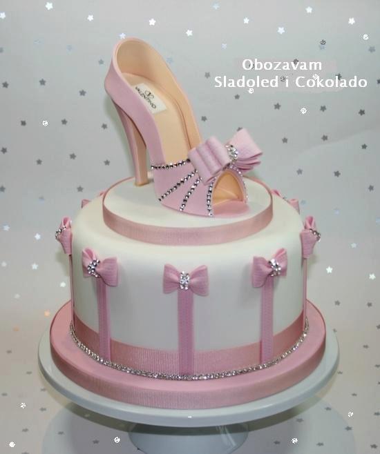 bolo mulher sapato