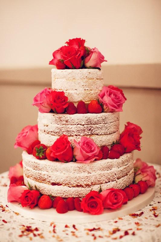 bolo naked cake casamento