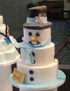 bolo natal boneco de neve