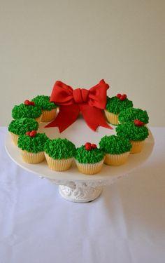 bolo natal cupcakes
