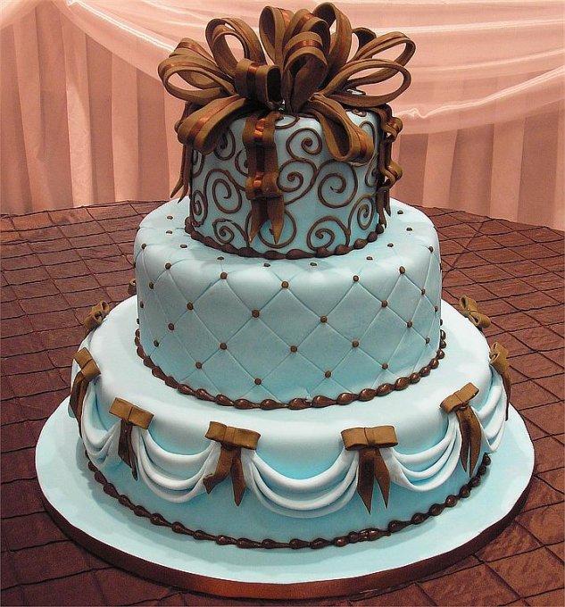 bolo noiva azul chocolate