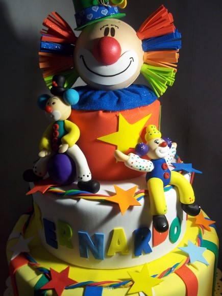 bolo palhaço circo