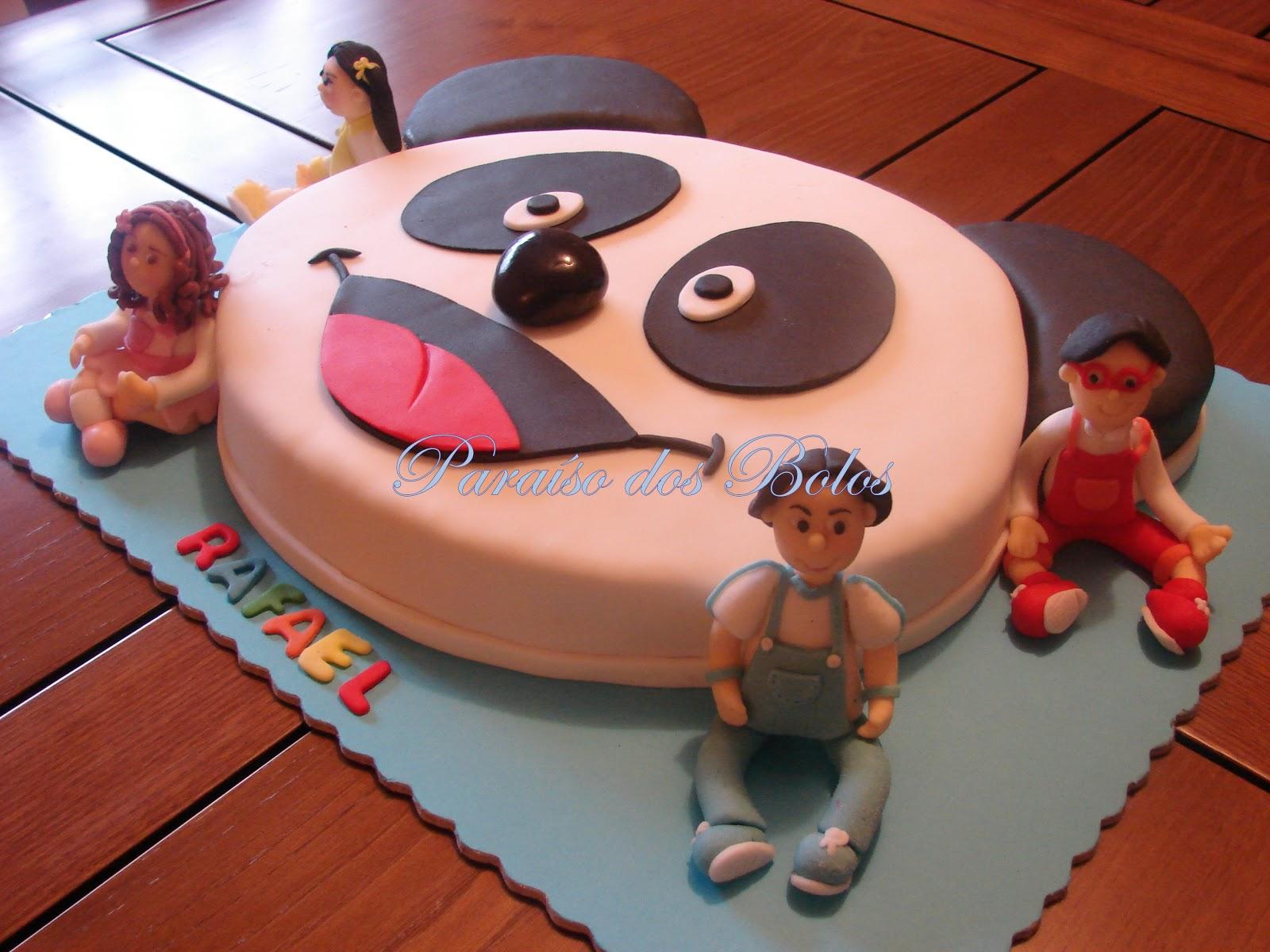 bolo panda e e os caricas infantil