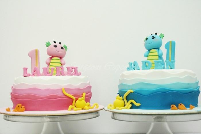 bolo para gemeos decorados