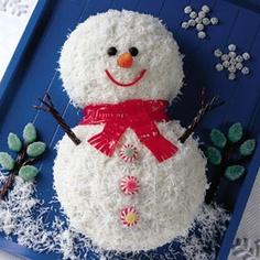 bolo para o natal boneco de neve