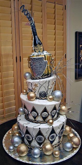 bolo para passagem ano