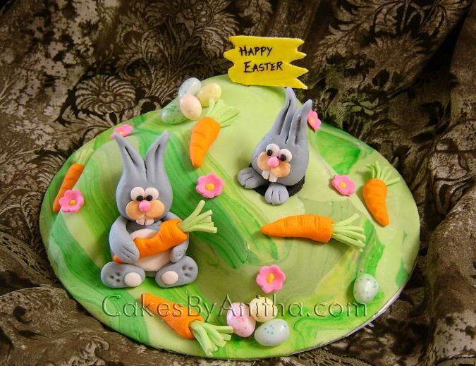 bolo pascoa decorado coelho