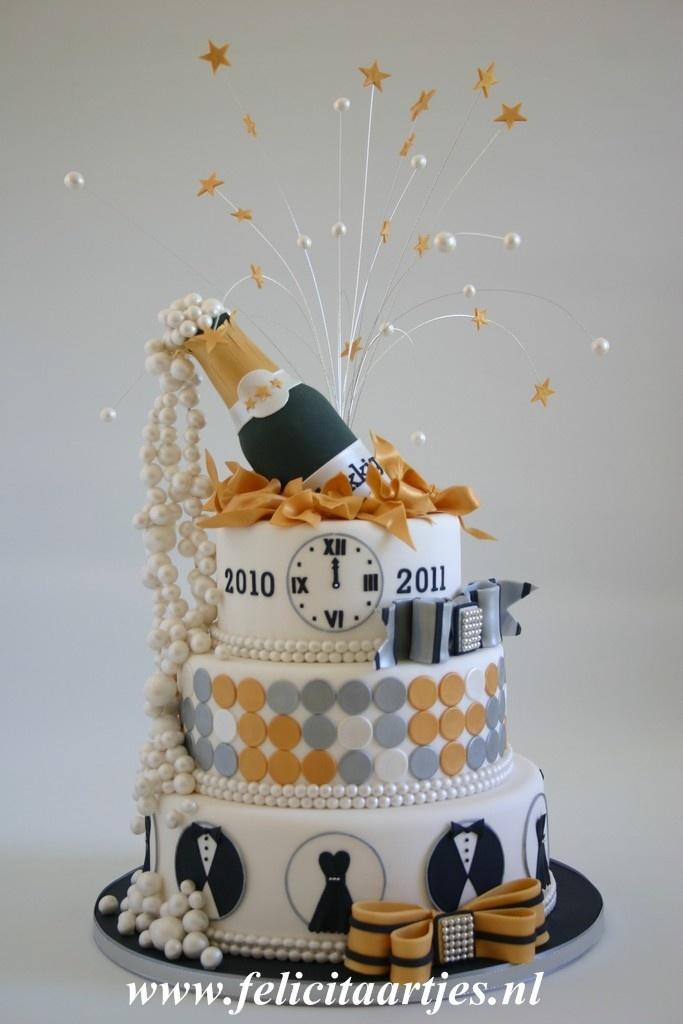 bolo passagem ano decorado