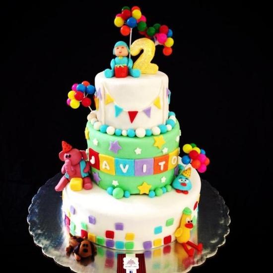 bolo pocoyo decorado