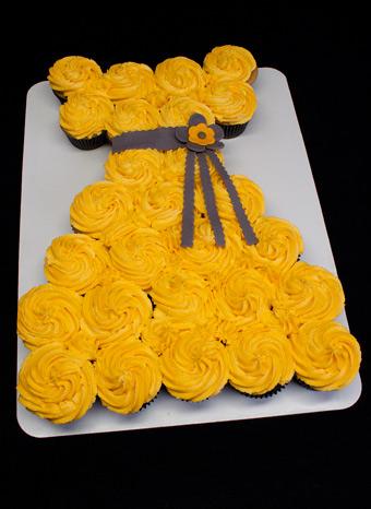 bolo princesa cupcakes