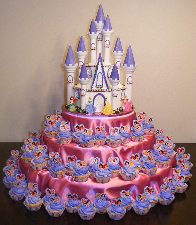 bolo princesa decorado castelo