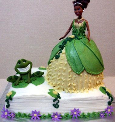 bolo princesa e o sapo