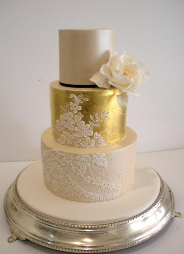 bolo renda casamento