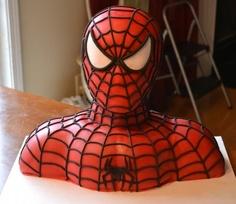 bolo rosto homem aranha