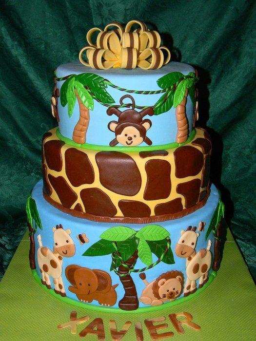 bolo safari aniversario