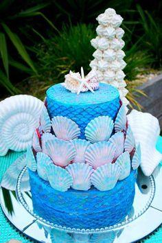 bolo sereia decorado