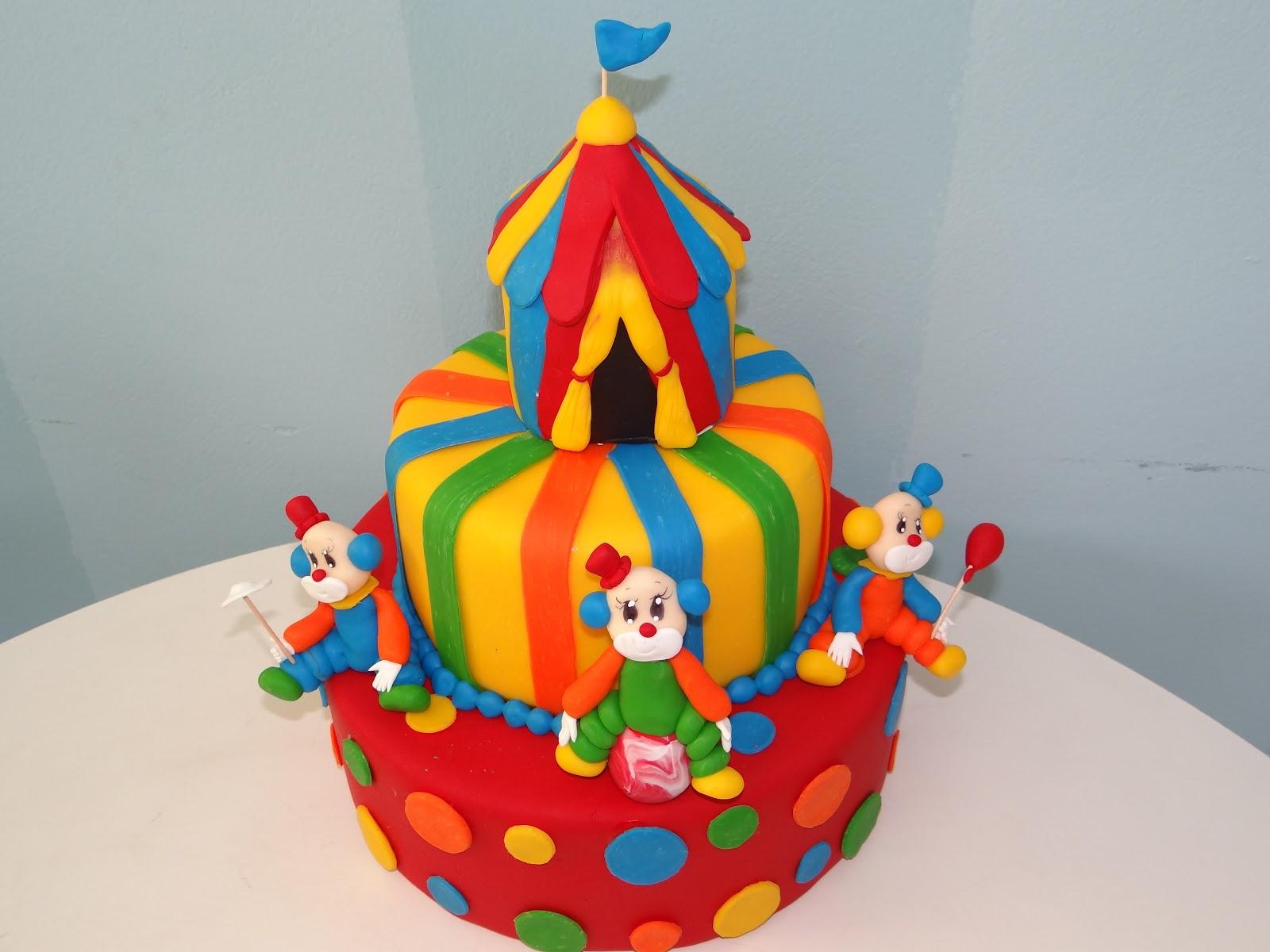 bolo tenda palhaço