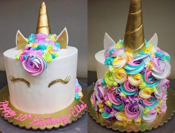 bolo unicornio 15 anos
