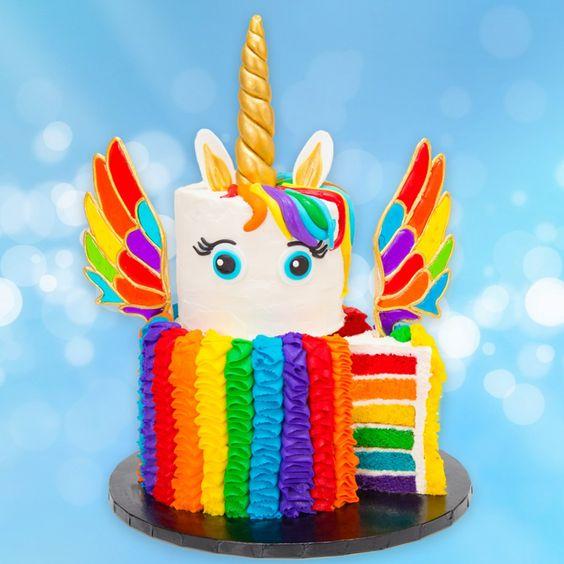 bolo unicornio arco iris
