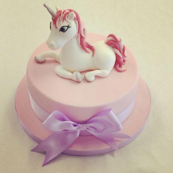 bolo unicornio rosa