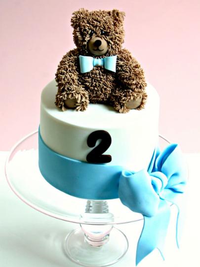 bolo urso azul