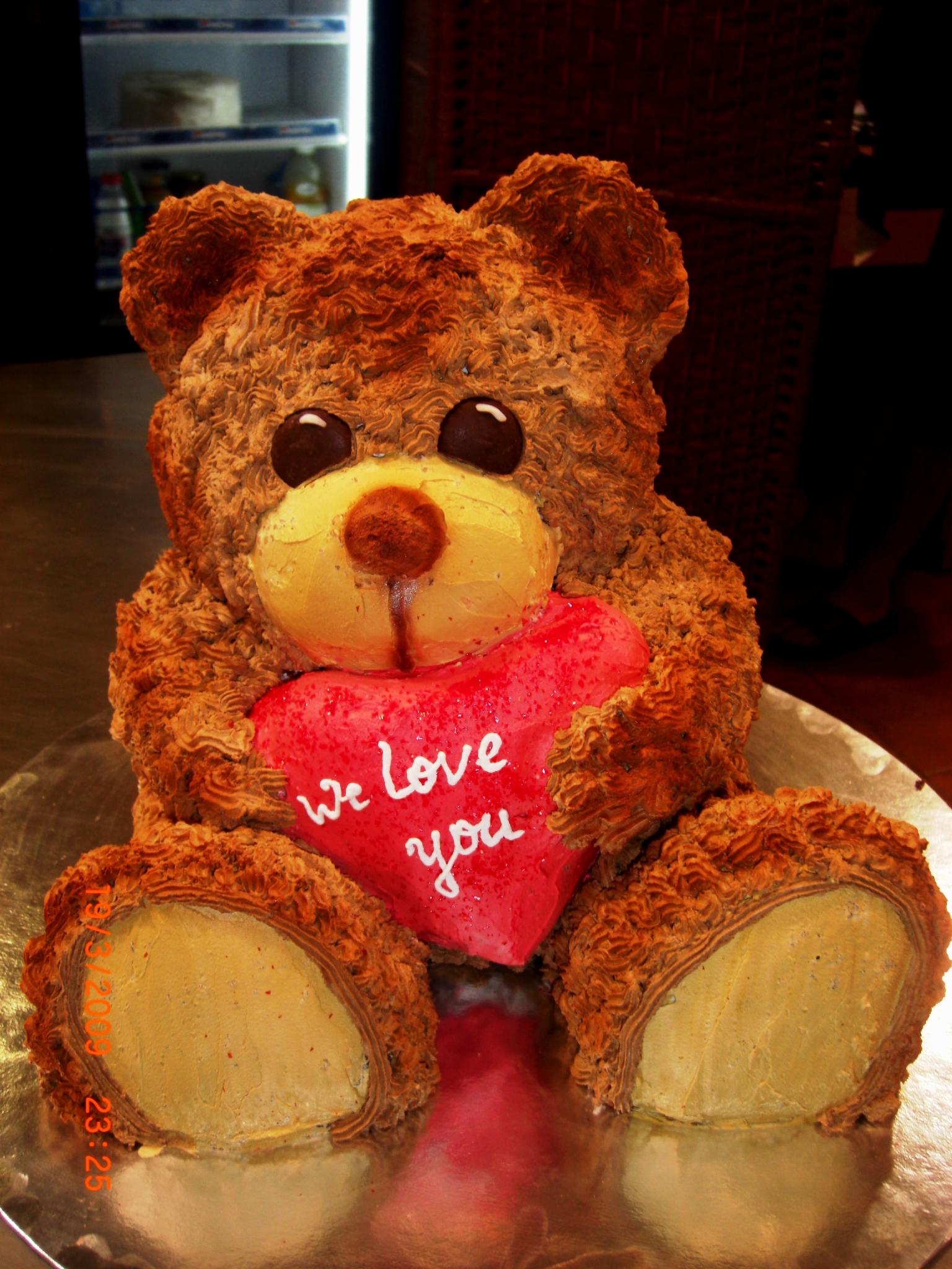 bolo urso namorados
